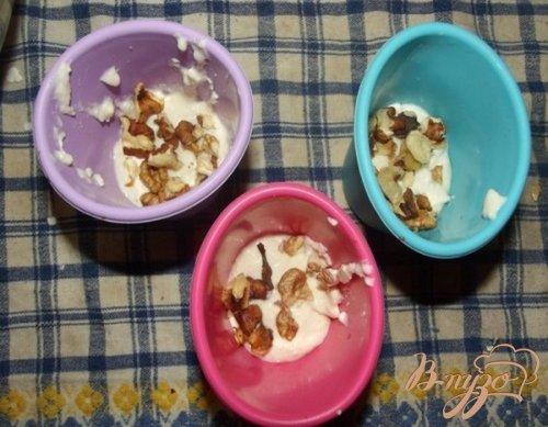 Кексы творожные с орехами