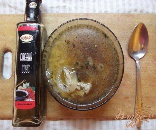 Суп с соевым соусом