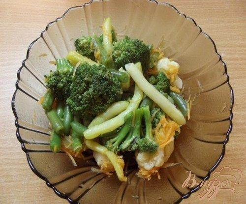 Овощной салат под соево-медовый соус