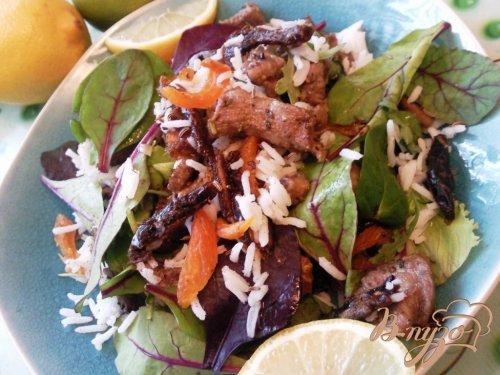 Салат из баранины и риса