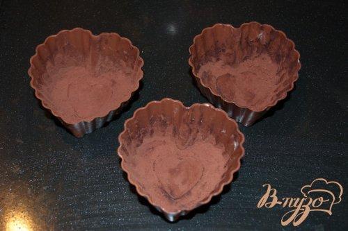 Шоколадный фондано с мороженым