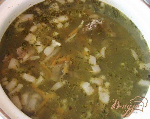 Суп на сале и баранине с гречкой