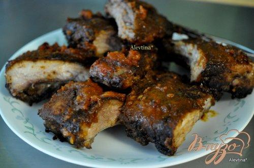 Cвиные ребрышки с цитрусовым барбекю соусом