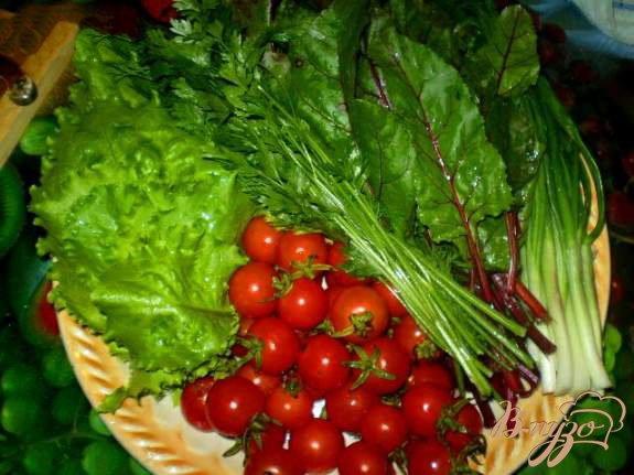 Фото приготовление рецепта: Витаминный салат со свекольной ботвой шаг №1