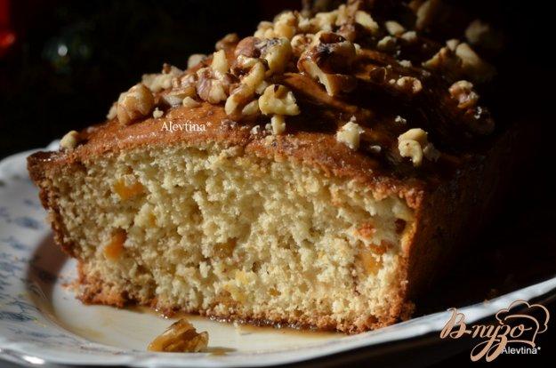 Рецепт Сладкий абрикосово-ореховый кекс