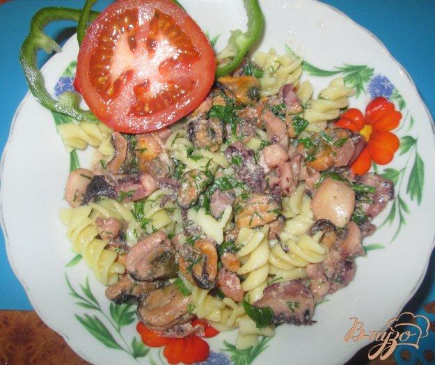 Рецепт Соус из морского коктейля к спагетти