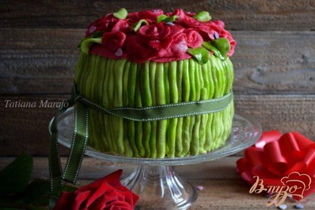 торт розовый букет рецепт