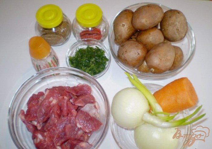 Фото приготовление рецепта: Говядина тушеная с овощами шаг №1