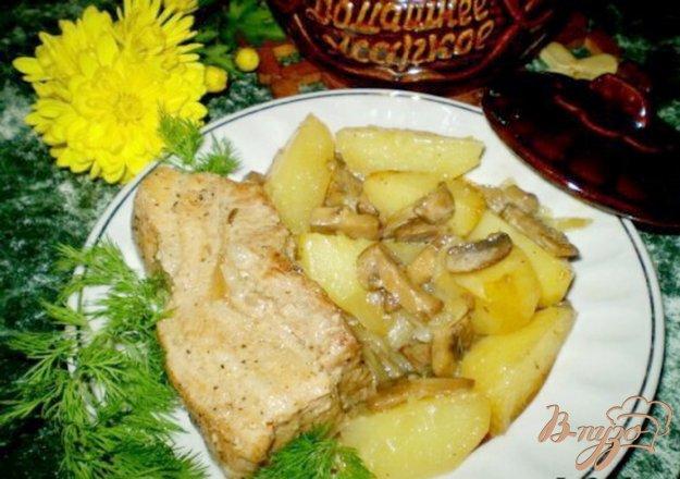 Рецепт Домашнее жаркое с грибами