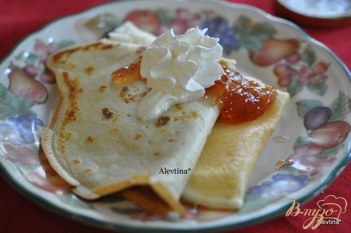Фото приготовление рецепта: Завтрак с блинами шаг №3
