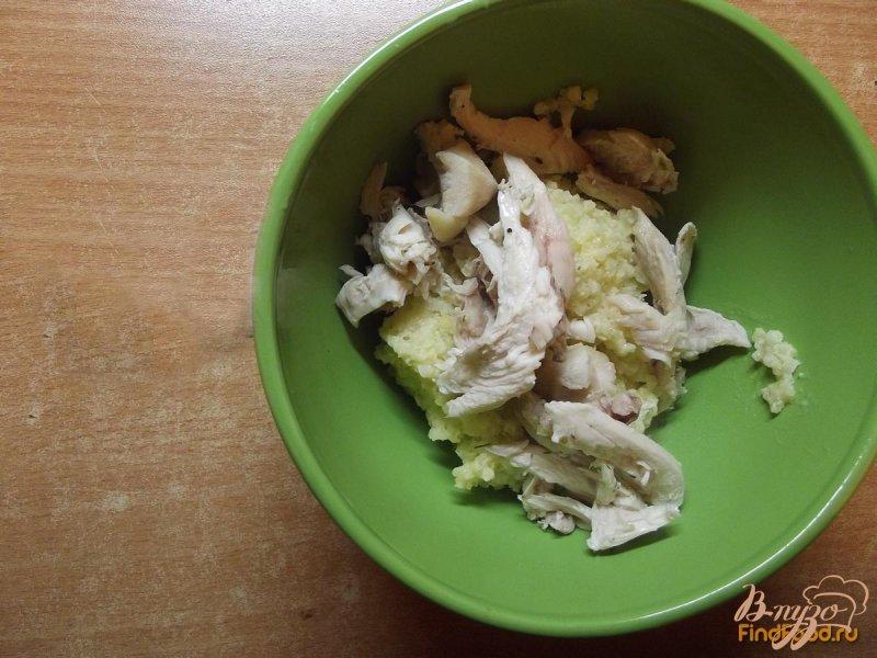 Фото приготовление рецепта: Суп из брокколи с сухариками шаг №6