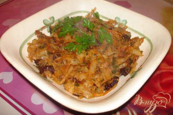 Рецепт Тушеная капуста с черносливом