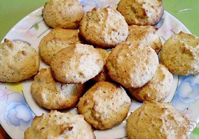 Фото приготовление рецепта: Кукурузное печенье с орехами от производителя шаг №6
