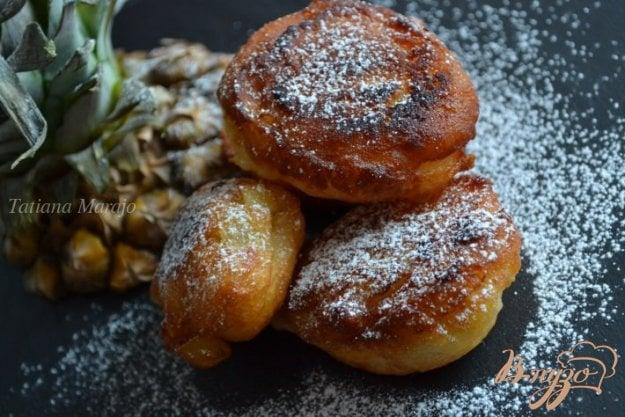 Рецепт Дрожжевые пончики с кусочками ананаса