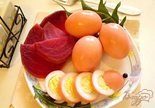 Рецепт Маринованные яйца со свеклой