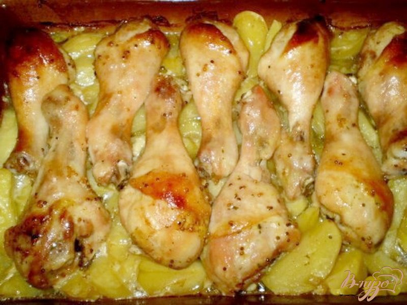Фото приготовление рецепта: Ножки запеченные в медово-горчичном маринаде шаг №5