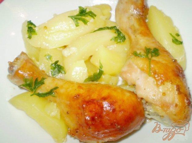 фото рецепта: Ножки запеченные в медово-горчичном маринаде