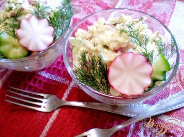 Рецепт Овощной салат с копченым сыром
