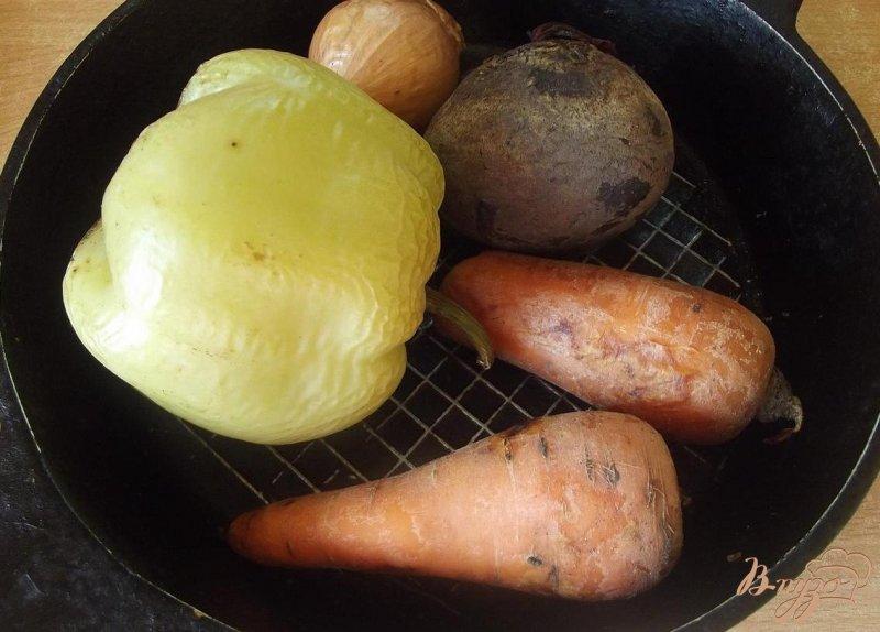 Фото приготовление рецепта: Борщ с печеными овощами шаг №1