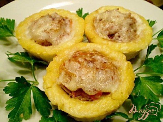 Рецепт Картофельные корзинки с мясом и овощами