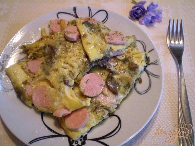 фото рецепта: Сытный омлет с грибами