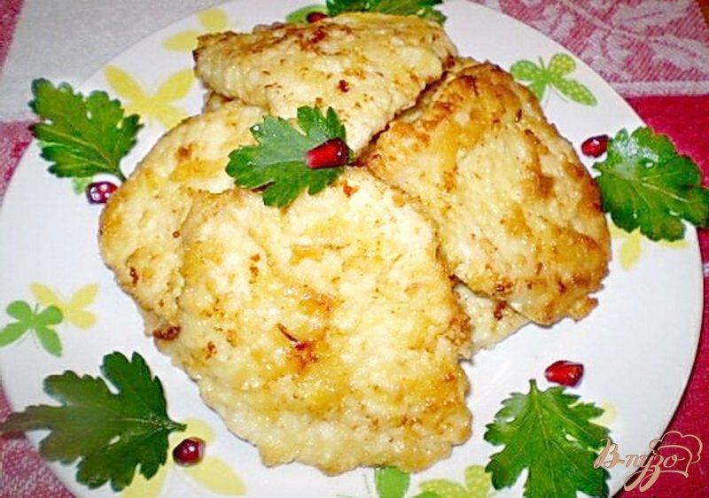 Фото приготовление рецепта: Отбивные из куриного филе шаг №7