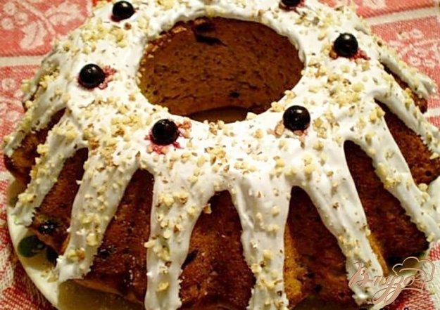 Рецепт Ореховый кекс с черной смородиной