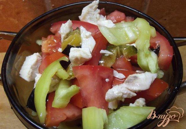 Рецепт Мясной салат со сливой