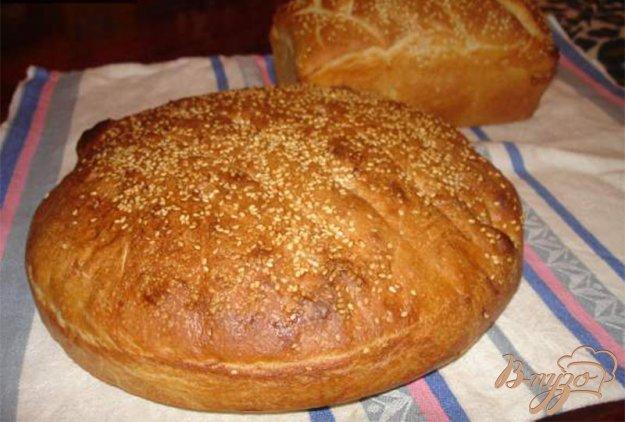 фото рецепта: Домашний хлеб без миксера