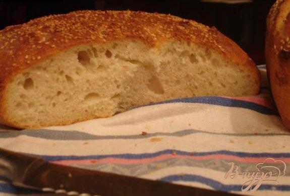 Фото приготовление рецепта: Домашний хлеб без миксера шаг №5