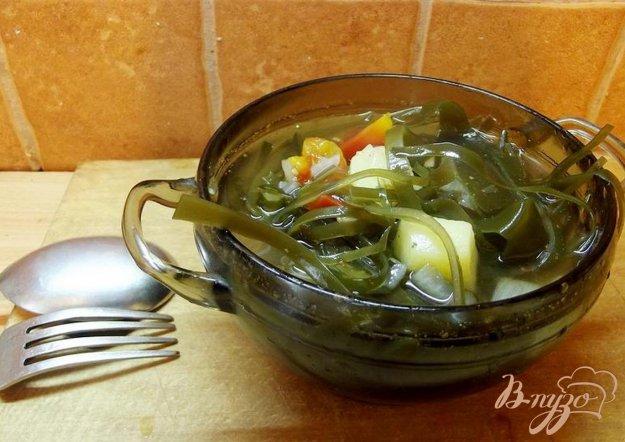 фото рецепта: Суп с ламинарией и помидорами