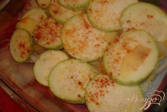 Фото приготовление рецепта: Запеченые овощи с беконом шаг №2