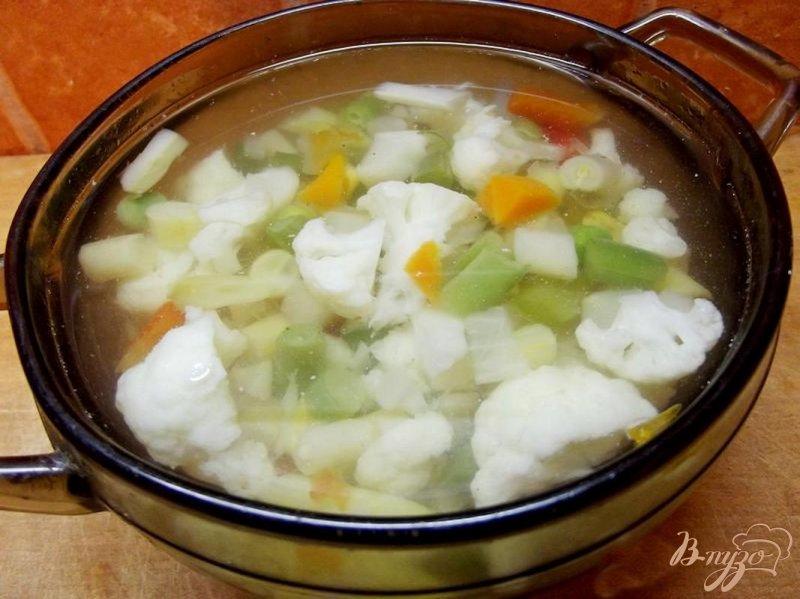 Фото приготовление рецепта: Суп из овощей аль денте шаг №7