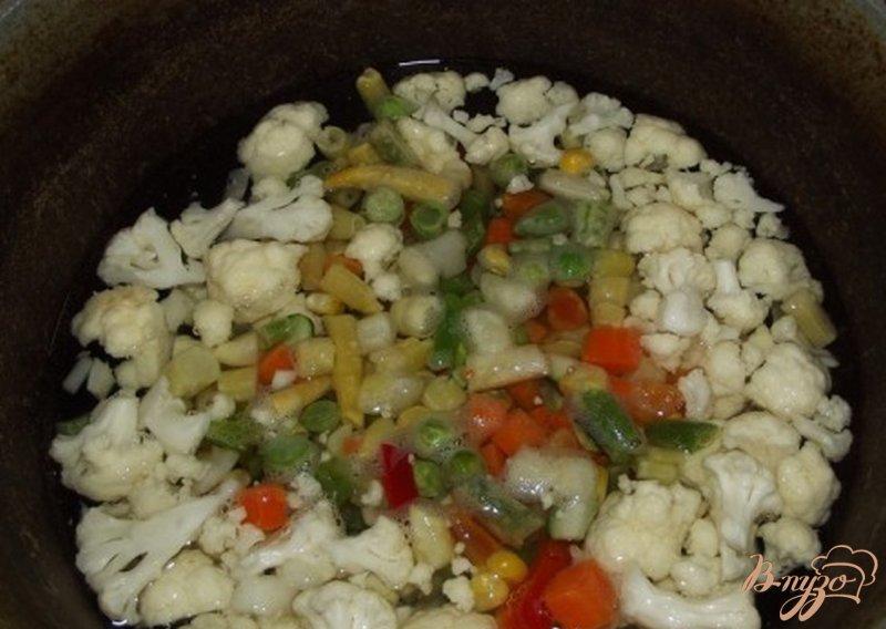 Фото приготовление рецепта: Суп из овощей аль денте шаг №5