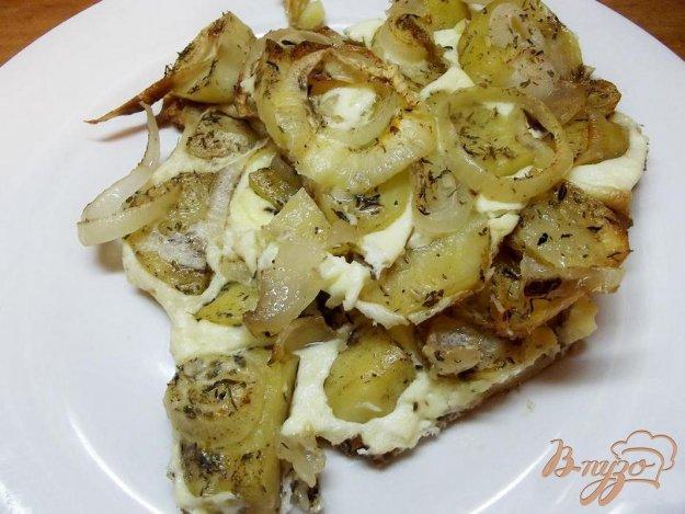 Рецепт Картофель с омлетом в духовке