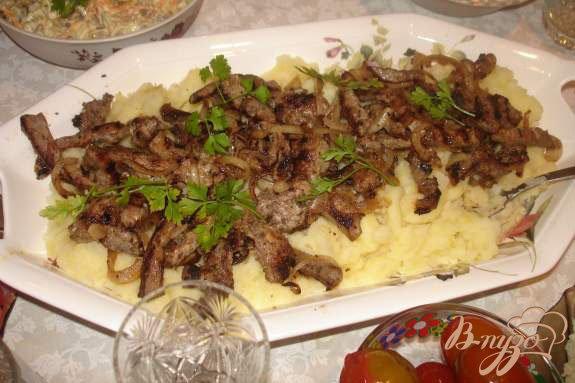 Рецепт Маринованное мясо в домашнем сухом красном вине, жаренное на гриле