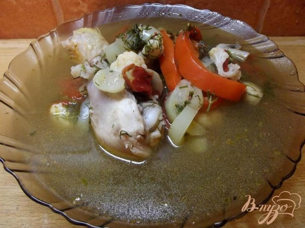 фото рецепта: Грибной суп с курицей