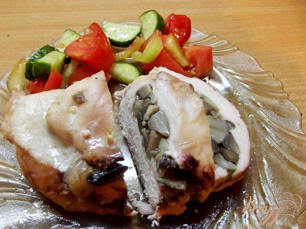 фото рецепта: Куриная грудка фаршированная грибами