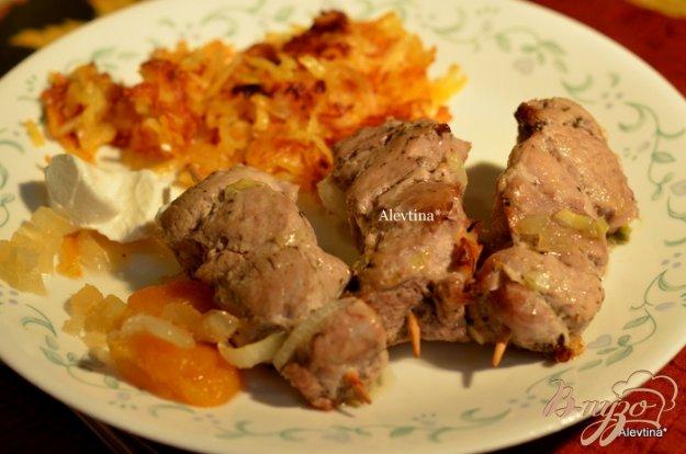 Рецепт Шашлычки или сувлаки с абрикосами
