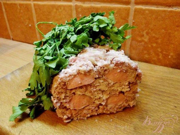 Рецепт Запеченный рулет с сосиками