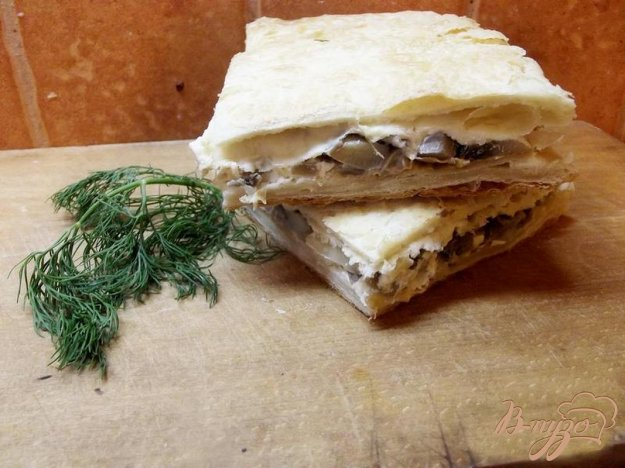 Рецепт Грибной пирог с сыром