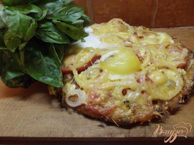 Рецепт Пицца грибная с яйцом