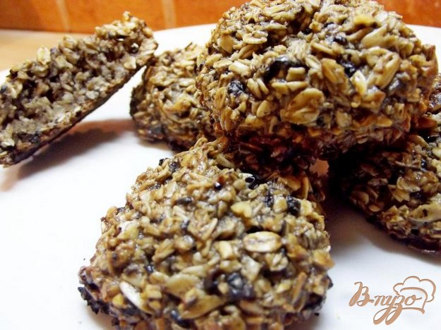 Рецепт Овсяное печенье с черничным вареньем