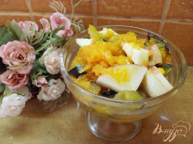 Рецепт Салат из тыквы с фруктами