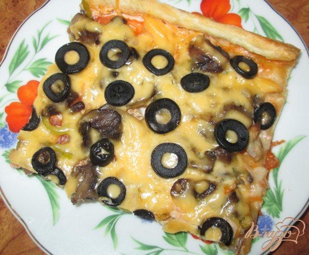 Рецепт Пицца с шампиньонами и болгарским перцем