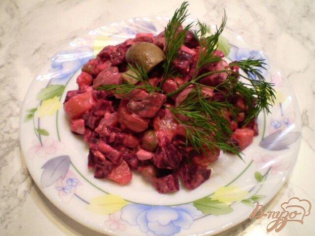 фото рецепта: Овощной салат с шампиньонами