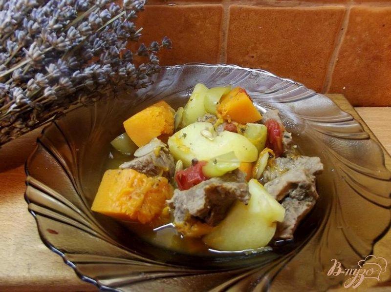 Фото приготовление рецепта: Рагу мясное с тыквой шаг №7