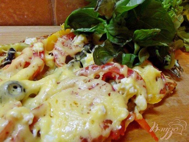 Рецепт Овощная пицца с фетой
