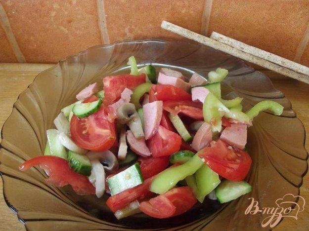 Рецепт Салат овощной с шампиньонами