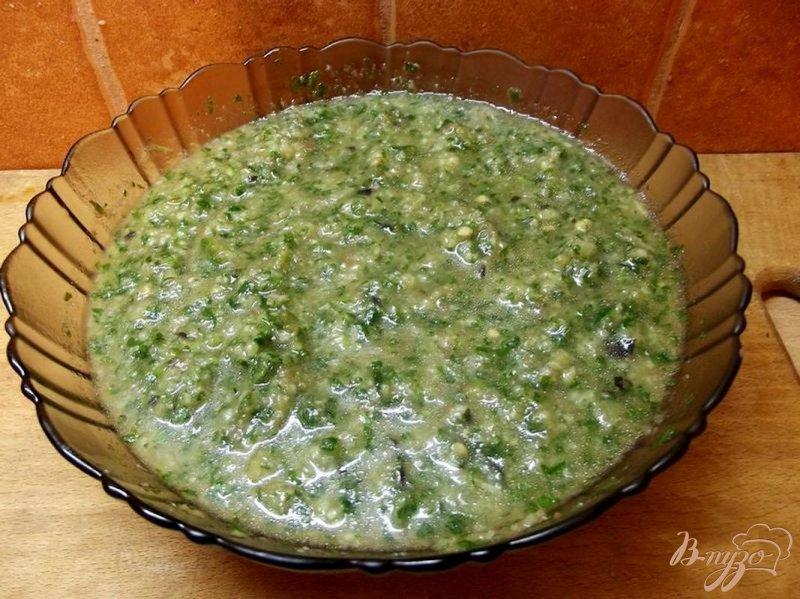 Фото приготовление рецепта: Зеленый гаспачо шаг №5